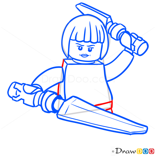 How to Draw Nya, Lego Ninjago