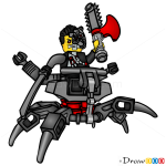 How to Draw Cyrus Borg, Lego Ninjago