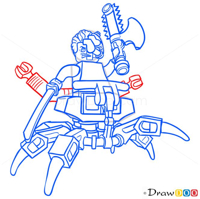 How to Draw Cyrus Borg, Lego Ninjago