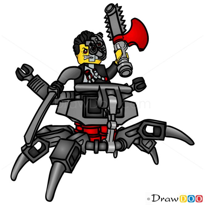 how to draw cyrus borg lego ninjago