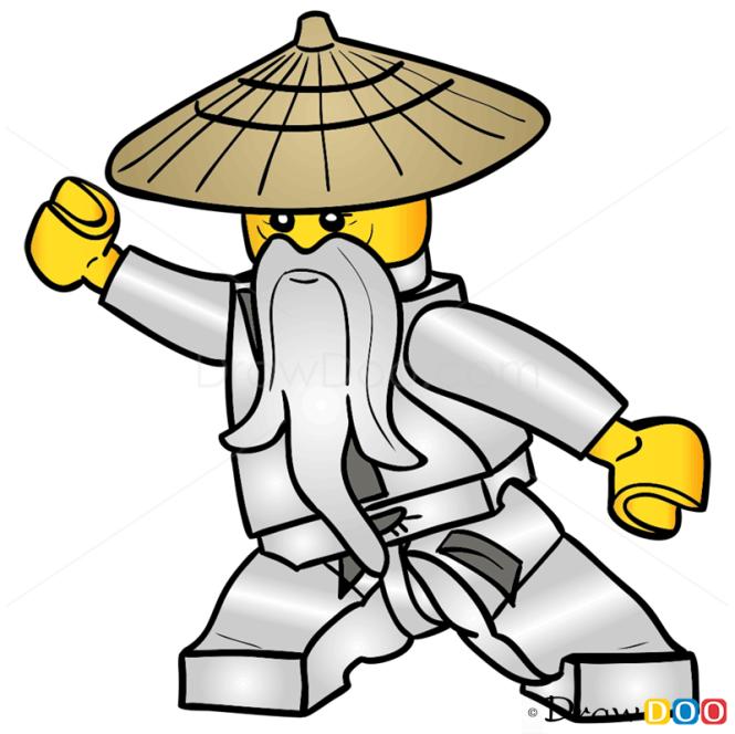 How to Draw Sensei Wu, Lego Ninjago