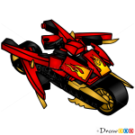 How to Draw Blade Cycle, Lego Ninjago