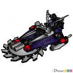 How to Draw Hover Hunter, Lego Ninjago