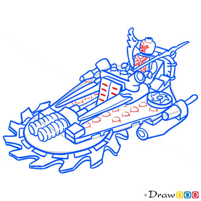 How to Draw Hover Hunter, Lego Ninjago