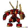 How to Draw Fire Mech, Lego Ninjago