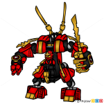 How to Draw Fire Mech, Lego Ninjago