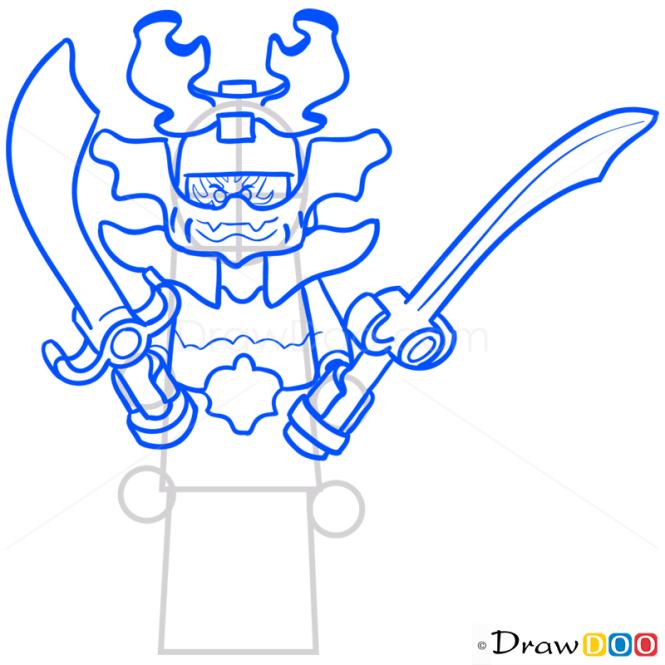 How to Draw General Kozu, Lego Ninjago