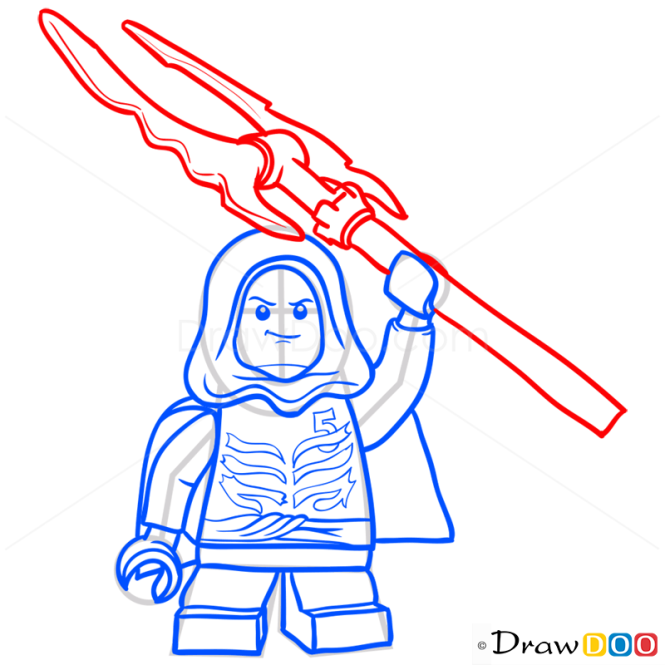 How to Draw Lloyd Garmadon, Lego Ninjago