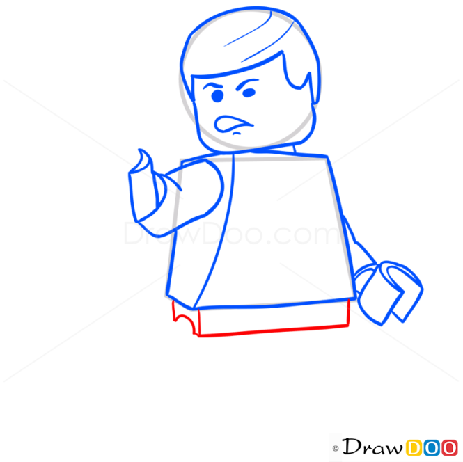 How to Draw Han Solo, Lego Starwars