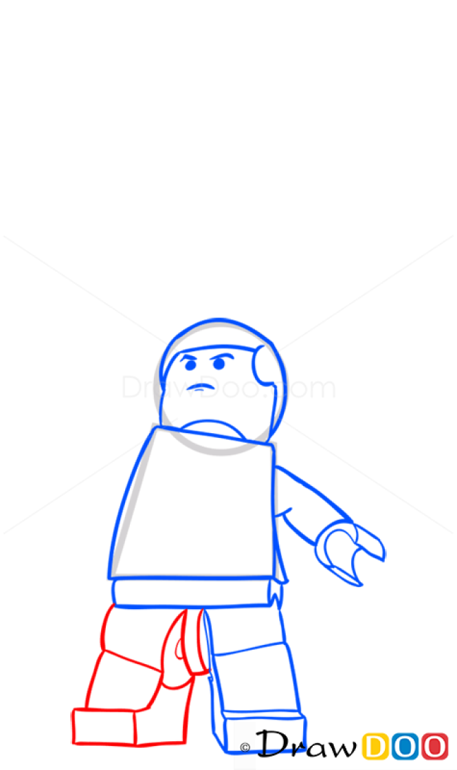 How to Draw Luke Skywalker, Lego Starwars