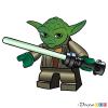 How to Draw Yoda, Lego Starwars