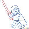 How to Draw Anakin Skywalker, Lego Starwars