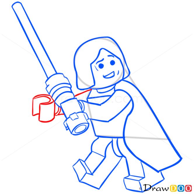 How to Draw Anakin Skywalker, Lego Starwars
