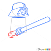 How to Draw Darth Wader, Lego Starwars