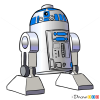 How to Draw R2-D2, Lego Starwars