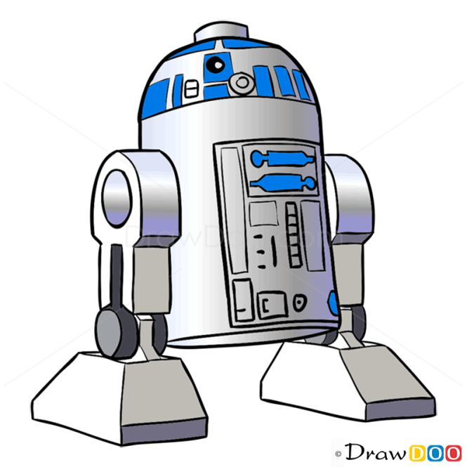 How to Draw R2-D2, Lego Starwars