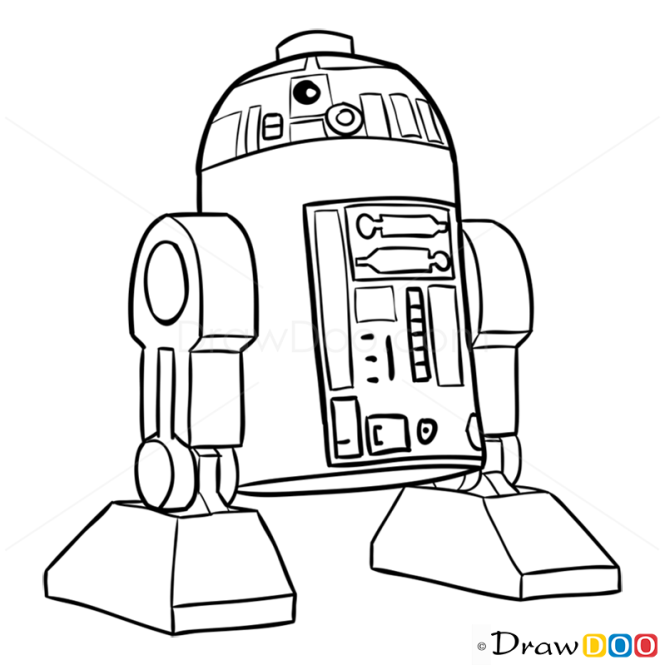 r2d2 coloring pages - photo #49