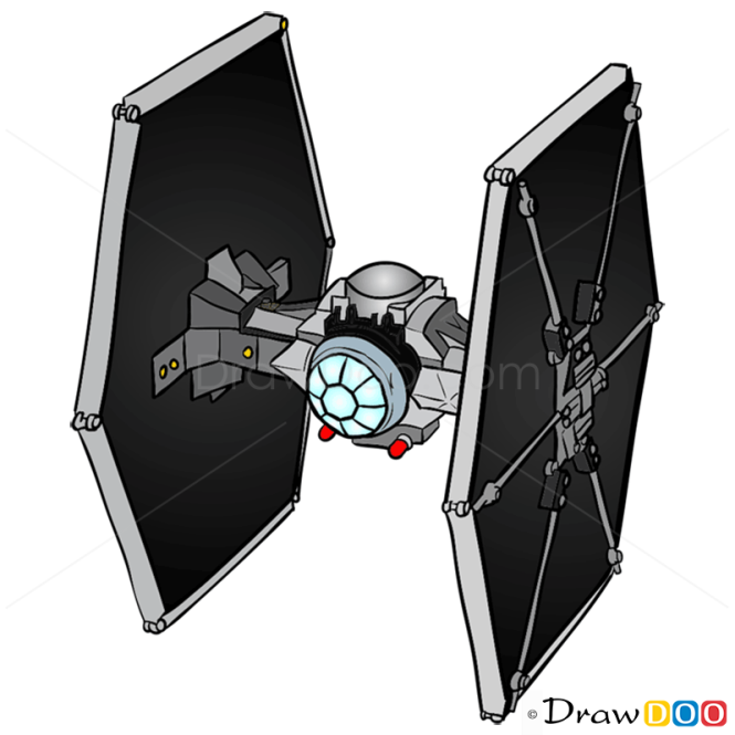 How to Draw TIE Fighter, Lego Starwars