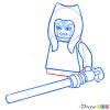 How to Draw Ahsoka, Lego Starwars