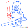 How to Draw Ahsoka, Lego Starwars