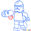 How to Draw Kashyyyk Trooper, Lego Starwars