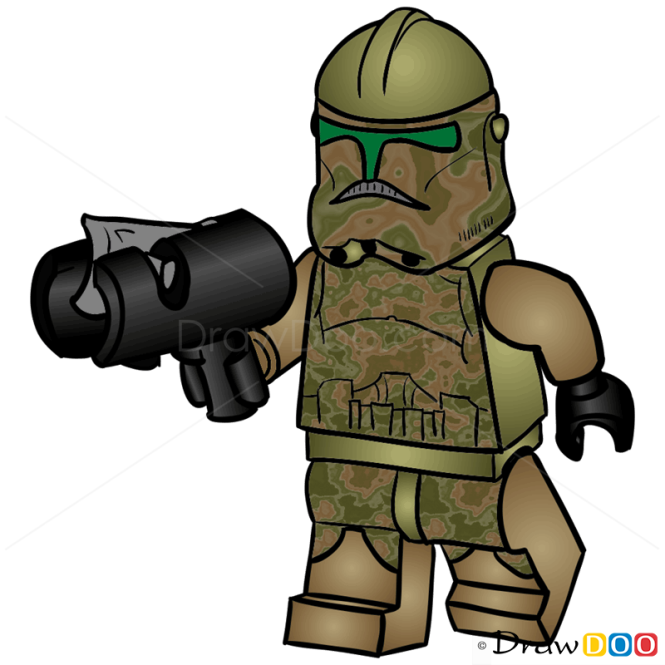 How to Draw Kashyyyk Trooper, Lego Starwars