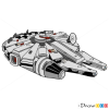 How to Draw Millenium Falcon, Lego Starwars