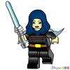 How to Draw Barriss Offee, Lego Starwars