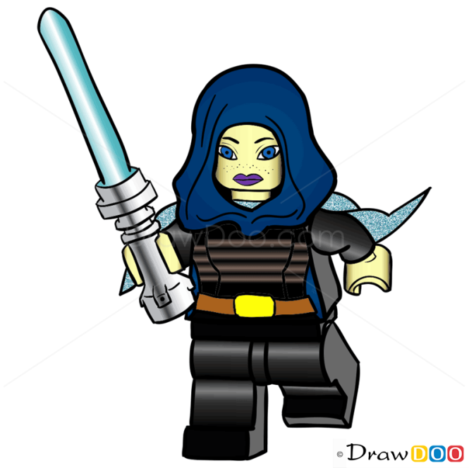How to Draw Barriss Offee, Lego Starwars