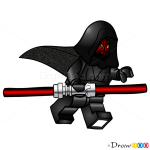 How to Draw Darth Maul, Lego Starwars