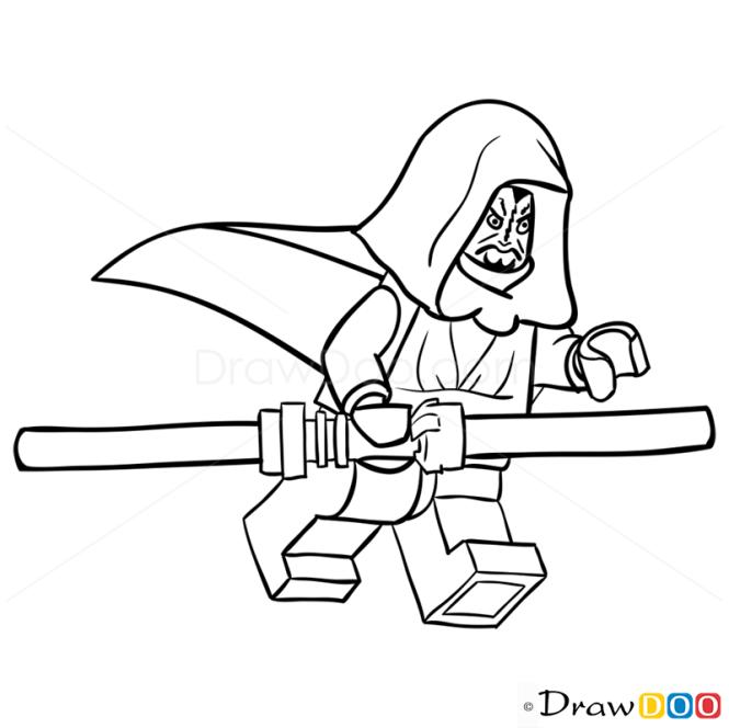 How to Draw Darth Maul, Lego Starwars