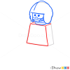 How to Draw X-Wing Pilot, Lego Starwars