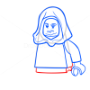 How to Draw Malakili, Lego Starwars