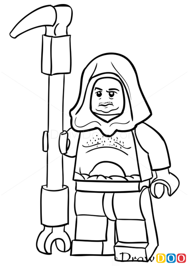 How to Draw Malakili, Lego Starwars