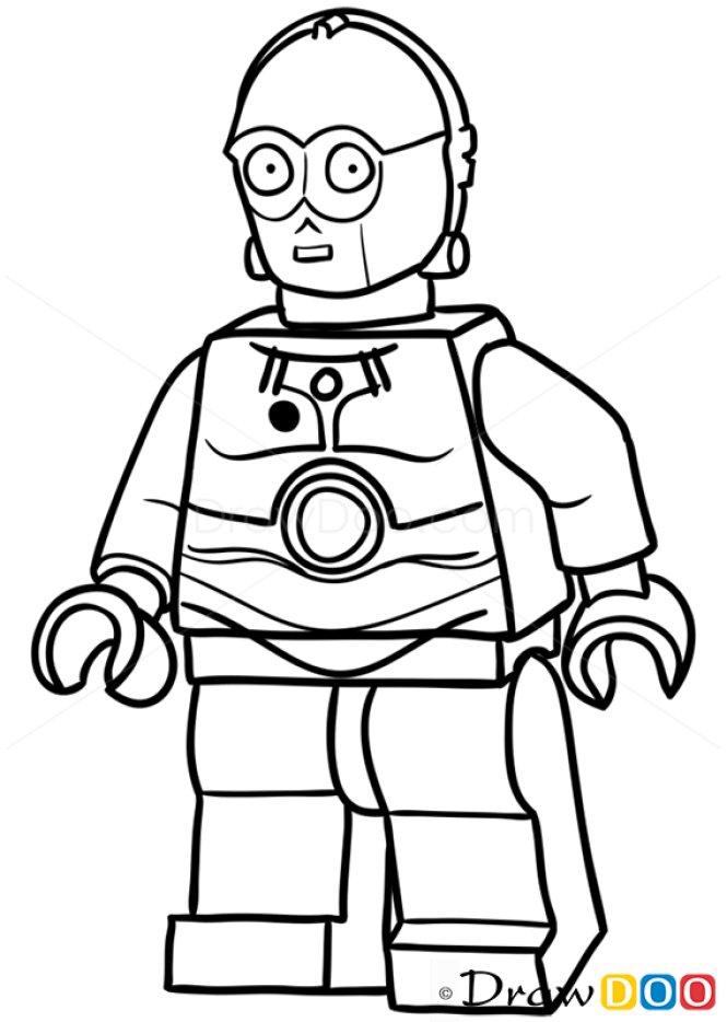 How To Draw C 3po Lego Starwars December 11 2015