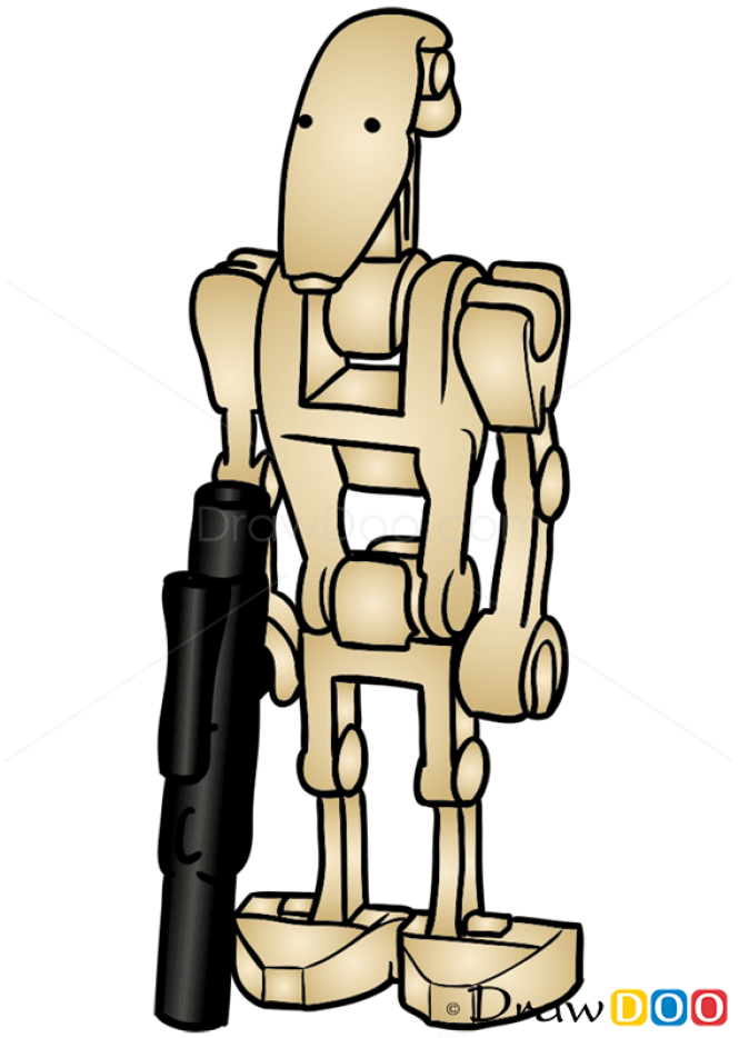 How To Draw Battle Droid Lego Starwars