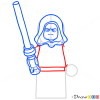 How to Draw Darth Sidious, Lego Starwars