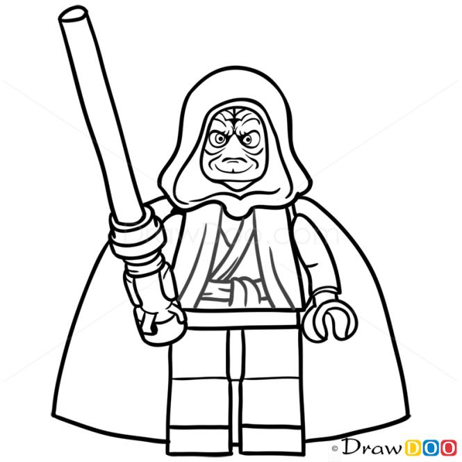How to Draw Darth Sidious, Lego Starwars
