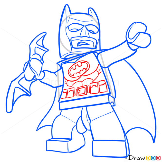 How to Draw Batman, Lego Super Heroes