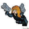How to Draw Black Widow, Lego Super Heroes