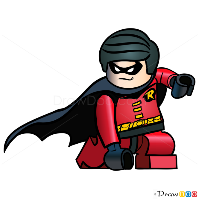 How to Draw Robin, Lego Super Heroes