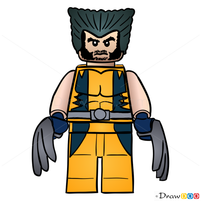 How To Draw Wolverine Lego Super Heroes