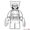 Ausmalbilder Lego Marvel Super Heroes: How To Draw Wolverine, Lego Super Heroes