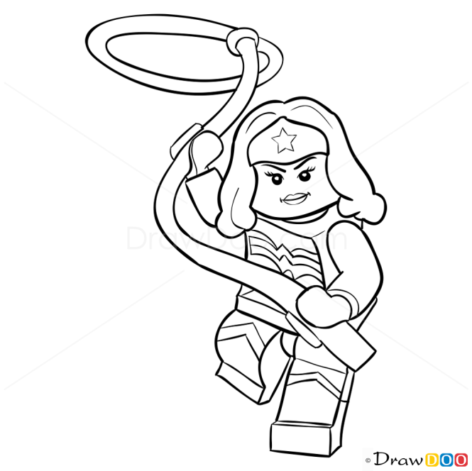 How to Draw Wonder Woman, Lego Super Heroes