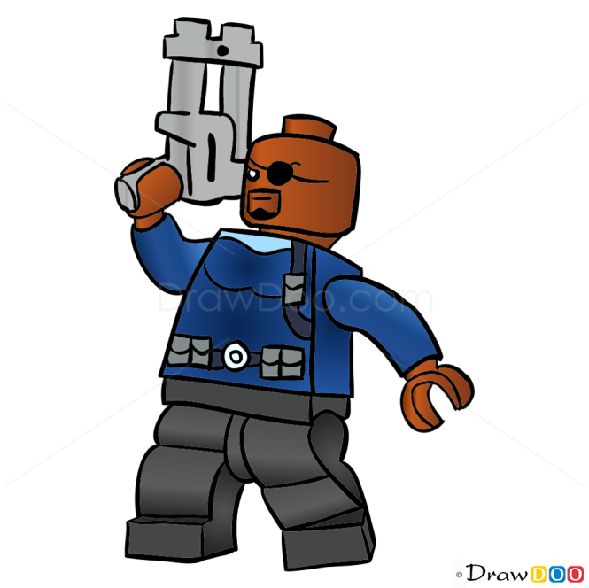 How to Draw Nick Fury, Lego Super Heroes