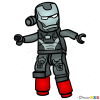 How to Draw War Machine, Lego Super Heroes