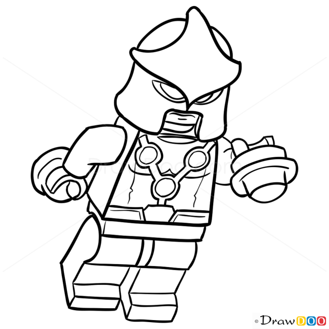 How to Draw Nova, Lego Super Heroes