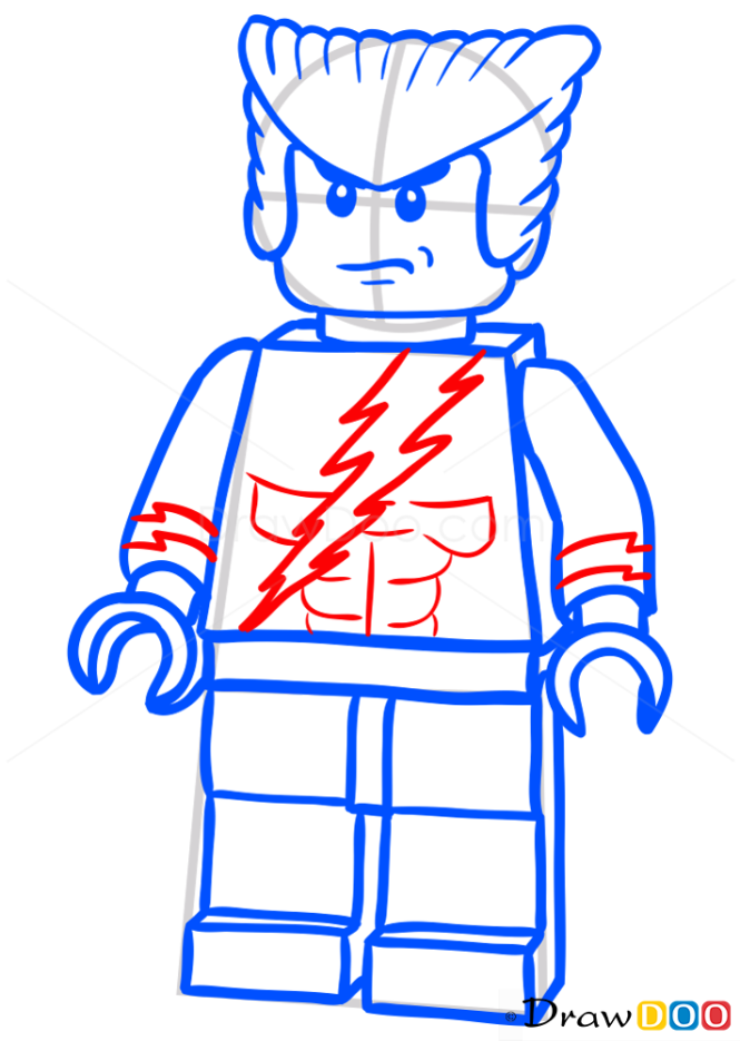 How to Draw Quicksilver, Lego Super Heroes
