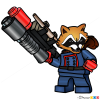 How to Draw Rocket, Lego Super Heroes
