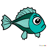 How to Draw Little fish, Luntik
